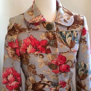 Etcetera Blue Floral Spring Coat